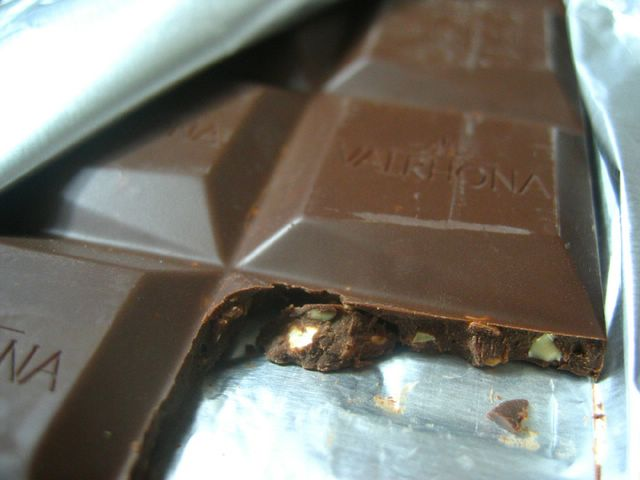 Closeup of Valrhona Chocolate